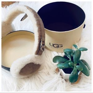 UGG Australia shearling earmuffs in chestnut